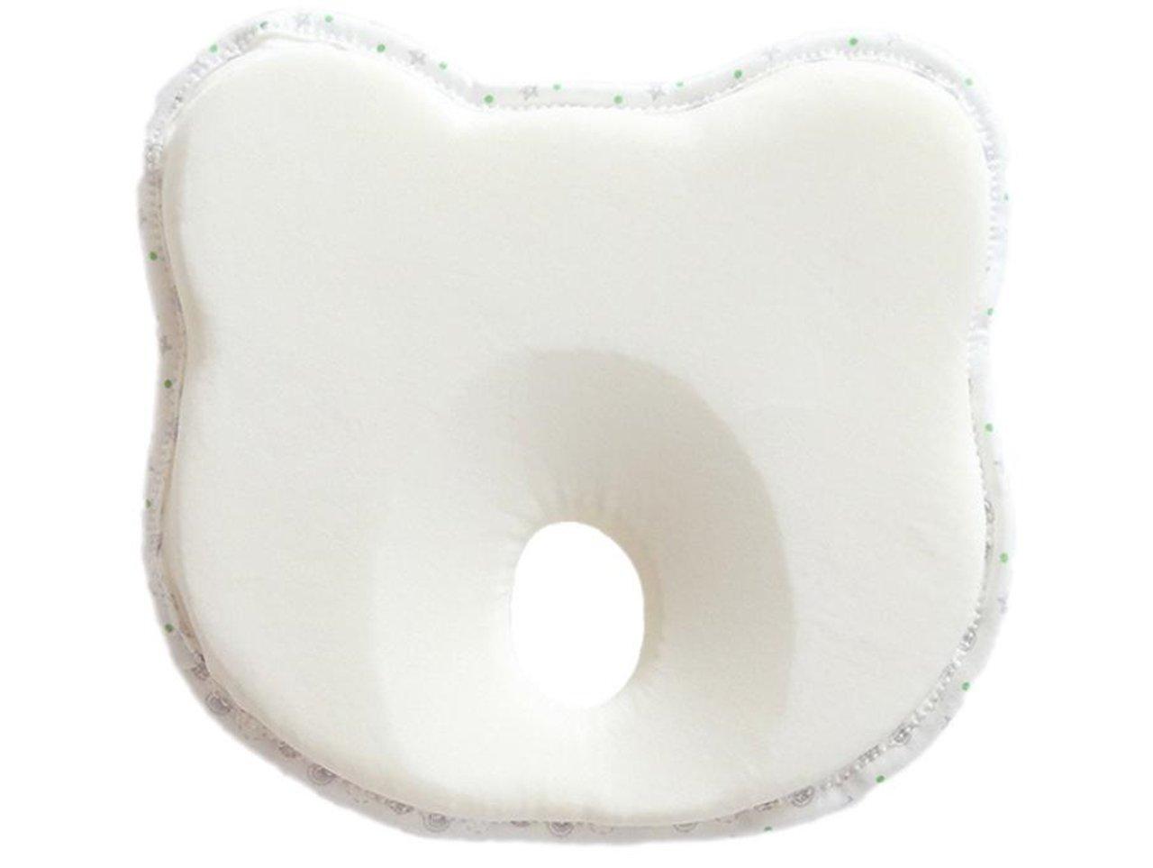 graffiti jp baby's pillow newborn infant breathabillty hygienical antibacterial cotton bear shape (White)