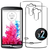 2 x LG G3 Case, TPU Clear Silicone Bumper Panel For LG G3 (D855,D850, D851,D852) (5.5 in) by NEVEQ®. [INVISIBLE GEL] Bumper for LG G3