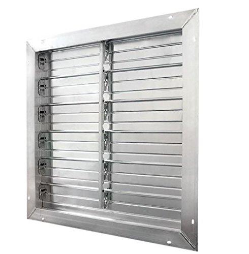 J&D Manufacturing VRSG36A-PS Aluminum Intake Power Shutter, 36'' x 36'' Double Panel