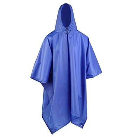 3in1 Multifunctional Raincoat Outdoor Travel Rain Poncho Backpack Rain Cover Waterproof Tent Awning Climbing Camping Hiking Tool Sports & Entertainment Camp Sleeping Gear