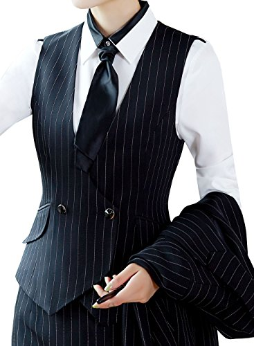 Lined Pinstripe Suit - 5