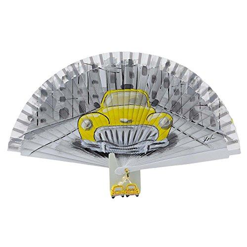 Vintage Ventilador Blanco Blanco Amarillo Aire Coche Distinto Y5zIwqt7tx