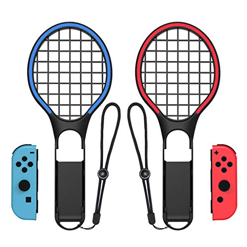 DEESEE(TM) New1 Pair Tennis Racket ACE Handle Controller Holder for Nintendo Switch Jpy-con ()