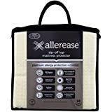 Aller-Ease Platinum Mattress Protector-360 Degree Zip-Off Top, Temperature Balancing Technology, Plush Protection Against Bedbugs, Dust Mites & Ped Dander, Twin Sized, White