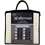 Aller-Ease Platinum Mattress Protector-360 Degree Zip-Off Top, Temperature Balancing Technology, Plush Protection Against Bedbugs, Dust Mites and Ped Dander, Twin Sized, White