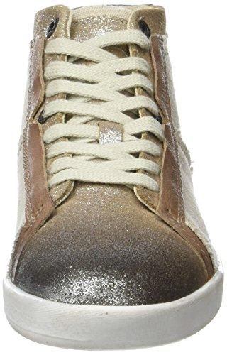 donna sneakers beige metallizzato beige per Kickers alte Happylove XZqqPA