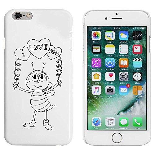 Weiß 'Liebe Biene' Hülle für iPhone 6 u. 6s (MC00036854)