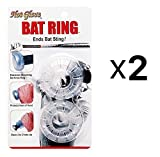 Unique Sports Shock Absorbing Baseball Softball Hot Glove Bat Ring 2-Pack