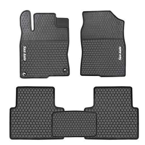 HD-Mart Car Rubber Floor Mat for Honda Civic 10th Generation 2016-2017-2018-2019 Custom Fit Black Auto Liner Mats All Weather, Heavy Duty & Odorless
