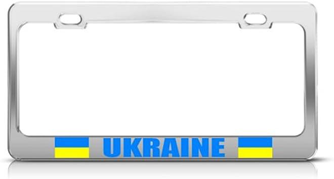 Ukraine Flag License Plate