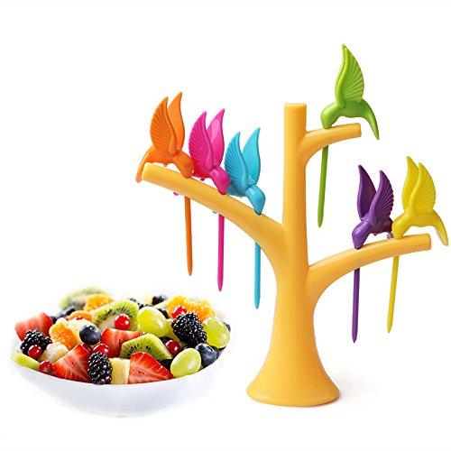 (Decorating Food With Flowers - 6pcs Lot Creative Hummingbird Fruit K Cake Dessert Food Pick Bento Lunches Toothpick Tableware - Box Fake Food Box Pick Food Toothpick Crochet Dessert K K Tooth)