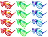 12-Pack LED Flashing Glasses Futuristic Glowing Rave Party Shades