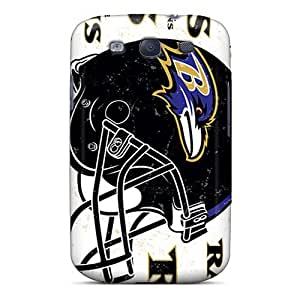 Galaxy S3 Cover Case - Eco-friendly Packaging(baltimore Ravens)