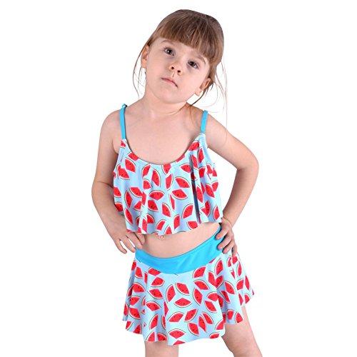 SSYY Jeune fille Deux pièces Maillots de bain Monokini Enfants Floral Maillots de bain À la mode Charmant Vêtements de plage