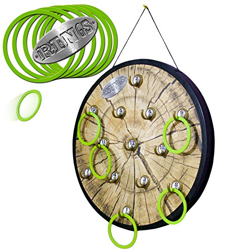 RINGS - Marky Sparky's HOOK and Ring Toss Game - Includes large ready to hang 18