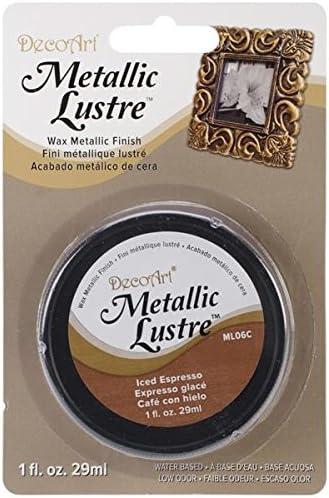 DecoArt ML06C-28 Metallic Lustre Wax, 1-Ounce, Iced Espresso, Brown