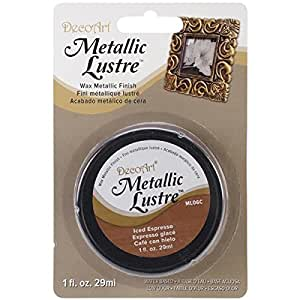 DecoArt Metallic Lustre Wax, 1-Ounce, Iced Espresso
