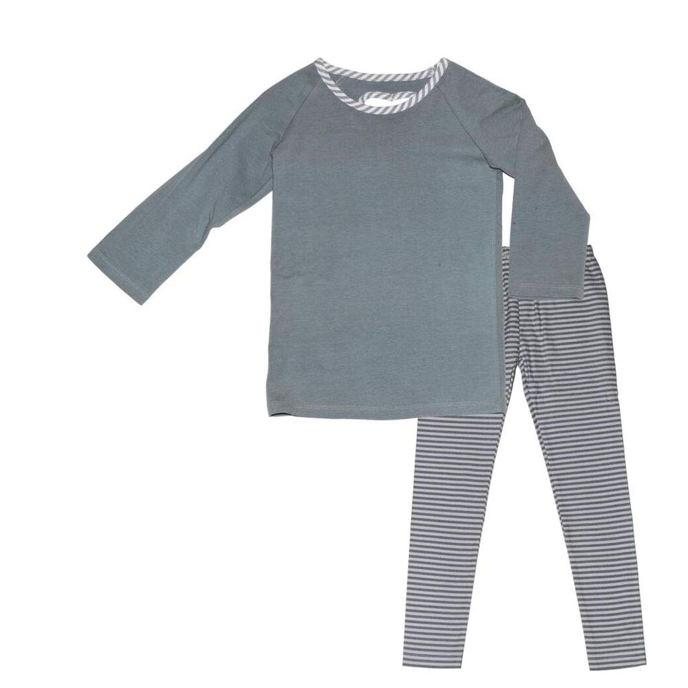 Three Friends Apparel Kids Heart Back Tunic Top with Leggings