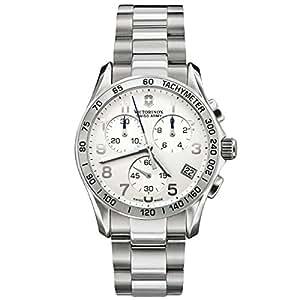 Victorinox 241335 - Reloj analógico de cuarzo para mujer con correa de acero inoxidable, color plateado
