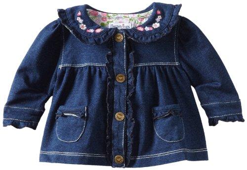 Hartstrings Baby-Girls Newborn Knit French Terry Jacket