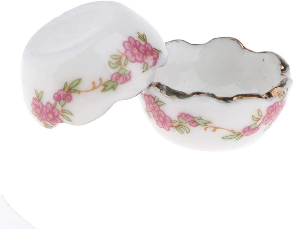 1:12 Scale 2 White Ceramic Bowls Tumdee Dolls House Kitchen Food Accessory W9e