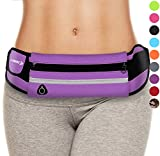 Belt Bag for Women: Waist Packs Best Running Fanny Pouch Waistband (Purple) Phone Holder for Girls Ladies Moms Men Mothers Sisters Females EDC EDM Mom Mother Girl Lady Sister Aunty Aunt Auntie Gifts