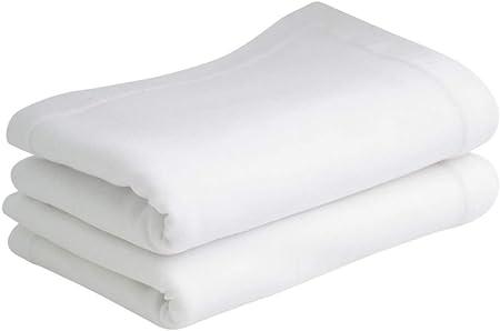 Bloomsbury Mill - Sábanas encimeras de punto liso suave - 100% algodón - Blanco - 75 cm x 100 cm - Para carrito/cuna - Juego de 2: Amazon.es: Hogar