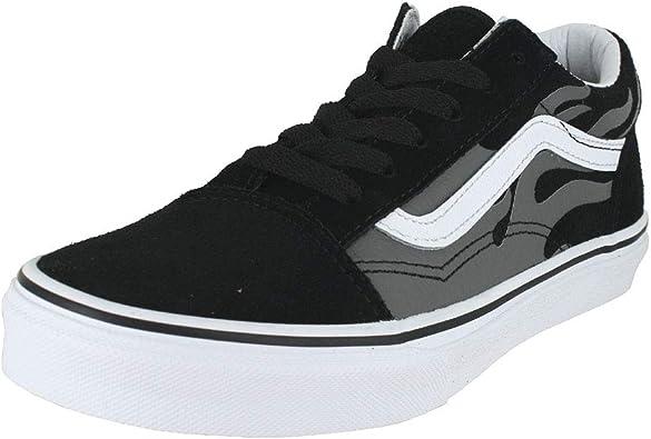 Vans Kids J Old Skool Black Grey Flame