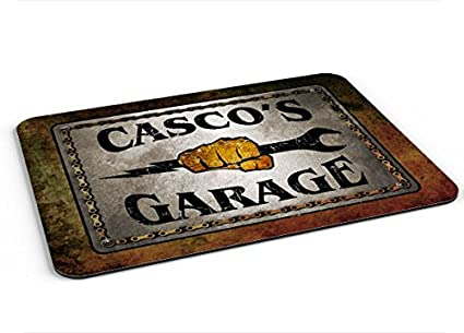 Casco Garage Mousepad/Desk Valet/Coffee Station Mat