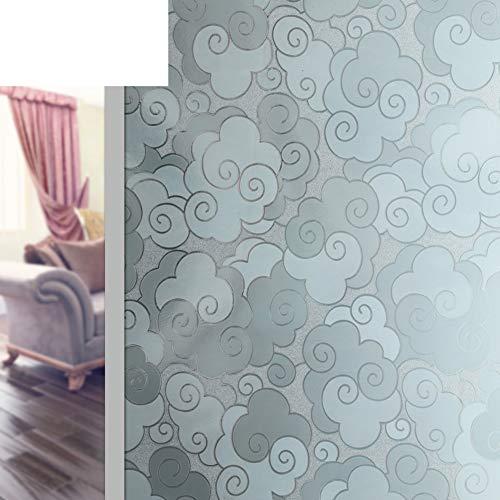 JYXJJKK Window Glass Matte Sticker,Bathroom Opaque Film-A 90x200cm(35x79inch)