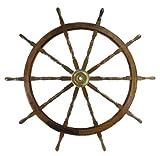 Ship Wheel 60 in. Diameter - Teak