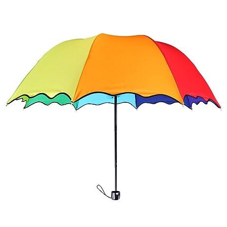 Paraguas de viaje ColorDrip con los 8 colores del arco iris, plegable