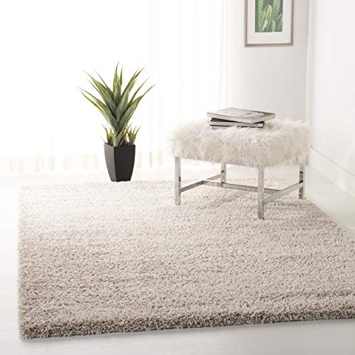 Safavieh California Premium Shag Collection SG151-1313 Beige Area Rug (8' x 10') (5x8 Area Tropical Rugs)