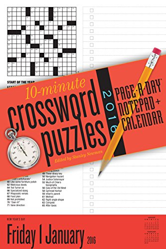 10-Minute Crossword Puzzles Page-A-Day Notepad + Calendar 2016