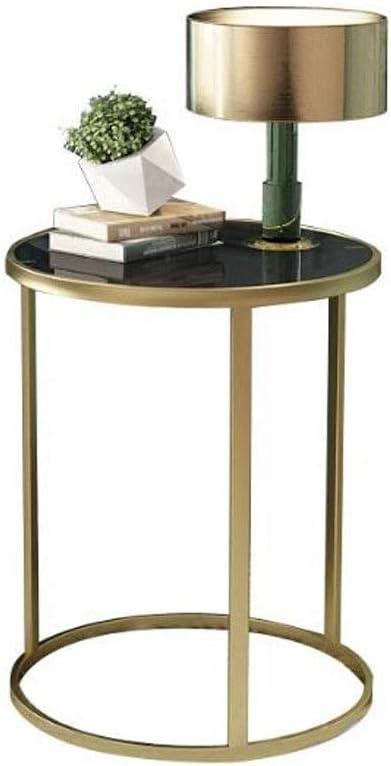 Mesa centro Mesa Auxiliar Pequeña mesa redonda redonda de cristal ...