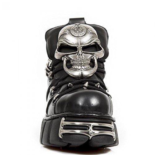 New Rock Laarzen M.1491-s1 Hardrock Punk Gothic Unisex Stiefelette Schwarz