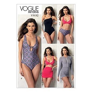 Amazon.com: Vogue Ladies Sewing Pattern 9192 Wrap Top Bikini, One ...