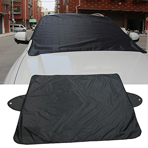 (Euone  Car Cover, Car Snow Ice Protector Visor Sun Shade Fornt Rear Windshield Cover Block Shields)
