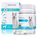 Healex 10 Tablets Large Dog (25+ LBS) Dewormer for Tapeworm, Roundworm, Whipworm, Hookworm