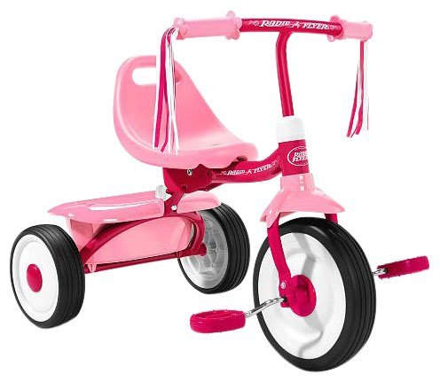 042385980195 - Radio Flyer Girls' Fold 2 Go Trike carousel main 0