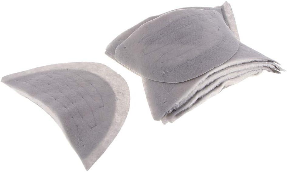 sharprepublic 10 Paar Schulterpolster Schneiderei Armbl/ätter aus Baumwolle zum Ann/ähen von Kleidung 0,8mm und 10mm N/ähen Zubeh/ör