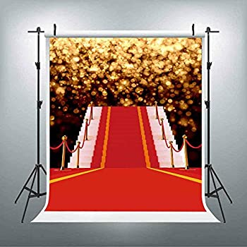 Amazon.com : LUCKSTY Glitter Red Carpet Backdrops for
