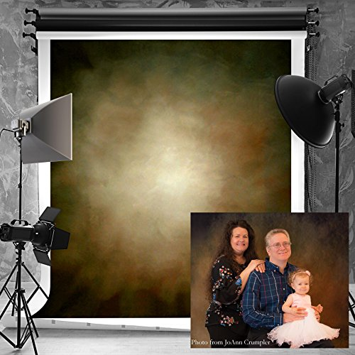 (Kate 6.5ft(W) x10ft(H) Portrait Photography Backdrops Microfiber Seamless Brown Abstract Photo Studio Backdrop)