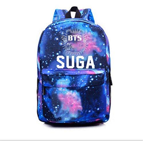 1 Schoolbag Bangtan Sports Backpack BTS KPOP Starry Suga Boys Sky Satchel Bags w017vUq