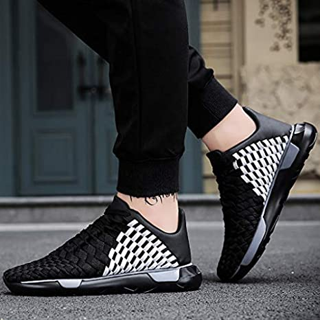 ♛ Woven Mesh Sneakers Thick-Soled Straps Breathable Running Blade Shoes 7-9.5 iYBUIA Sports Shoes for Mens