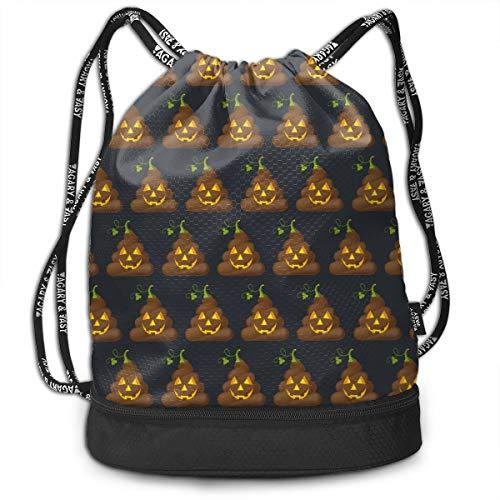 GLSEY Bag Unisex Halloween Poop Multifunctional Drawstring Sackpack Casual Outdoor -