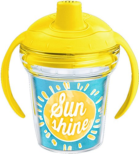 Tervis 1229941 Sunshine Baby Tumbler with Wrap and Bumblebee Yellow Lid 6oz My First Tervis Sippy Cup, Clear