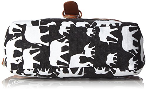 Bag Messenger Bag Vintage Canvas elephant Printed Bags Women's Animal Shoulder 0qBwpxxA