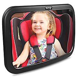 ❤DARVIQS Baby Car Mirror, Shatter-Proof Acrylic Baby Mirror for Car, Rearview Baby Mirror-Easily to Observe The Baby's Every Move, Safety and 360 Degree Adjustability  ❤Car Safety Tested and Approved Rear Facing Mirror Our premium quality baby mirror...