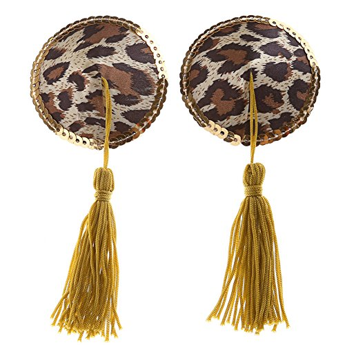 Ayliss Womens Leopard Gilt edged Pasties product image